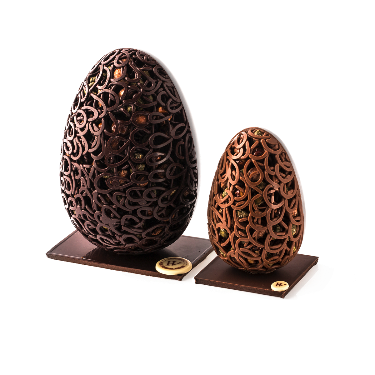 Oeuf dentelle chocolat noir