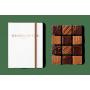 Carnet 12 Carrés Chocolat Artisanal