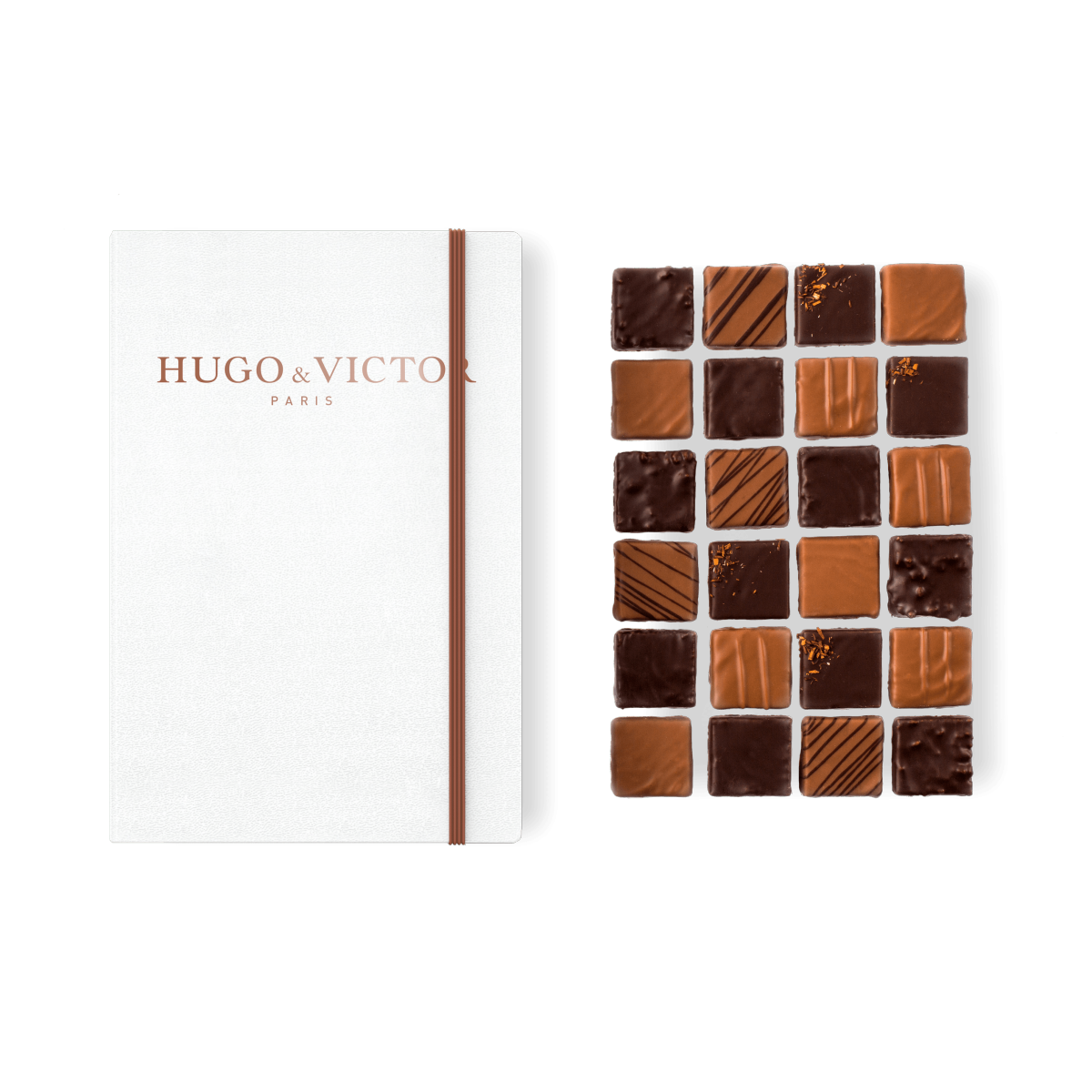 Carnet 24 Carrés Chocolat Artisanal
