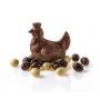 Poule et oeufs praliné feuilleté chocolat lait