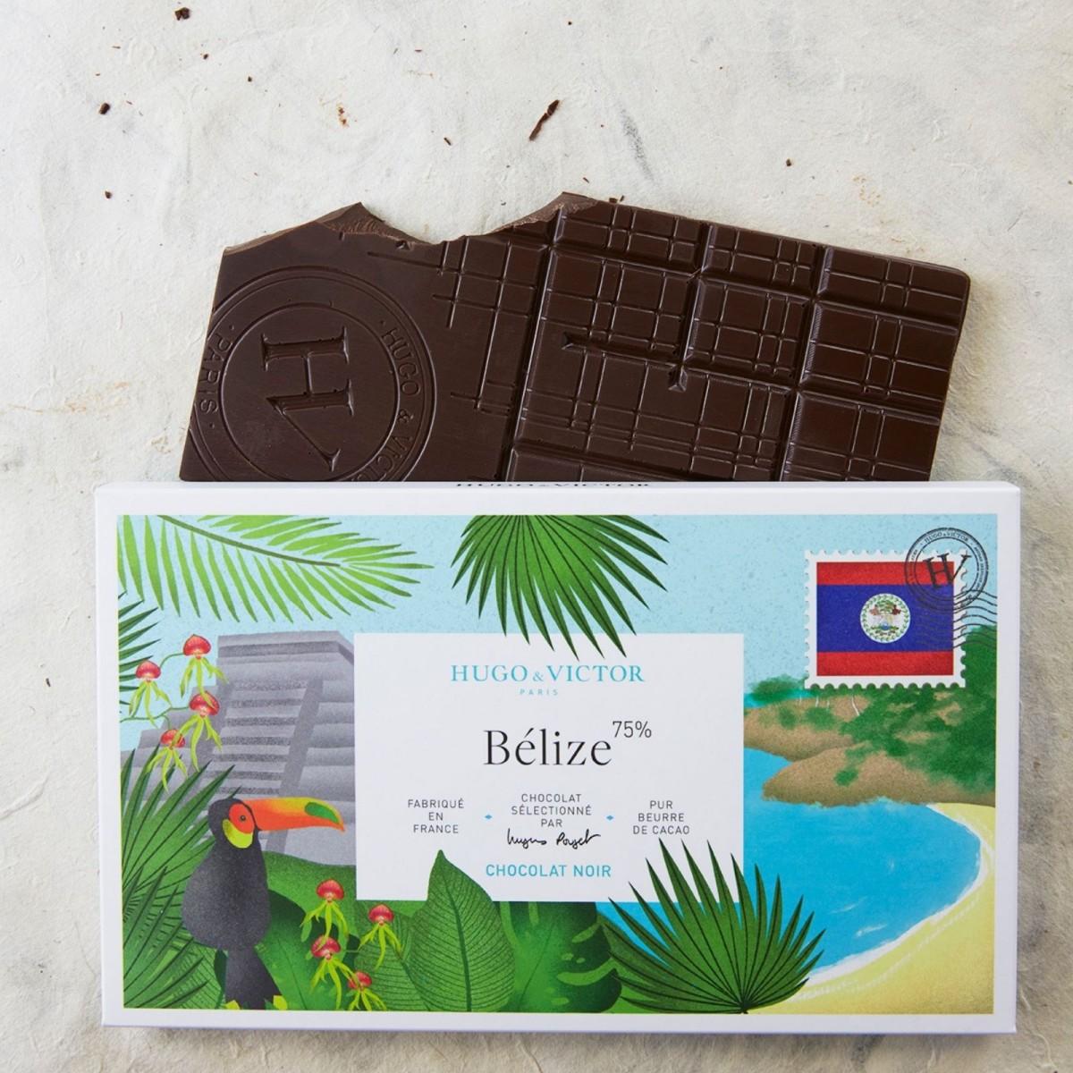 Tablette Belize 75% chocolat noir sans lécithine