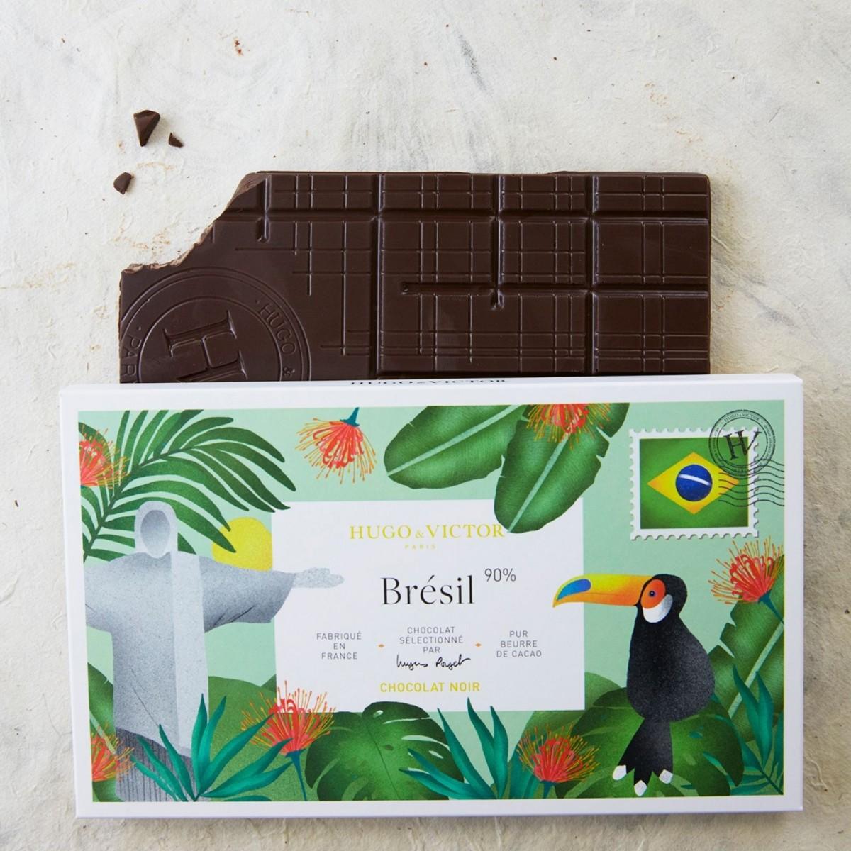 Tablette Brésil 62% sans lécithine de soja