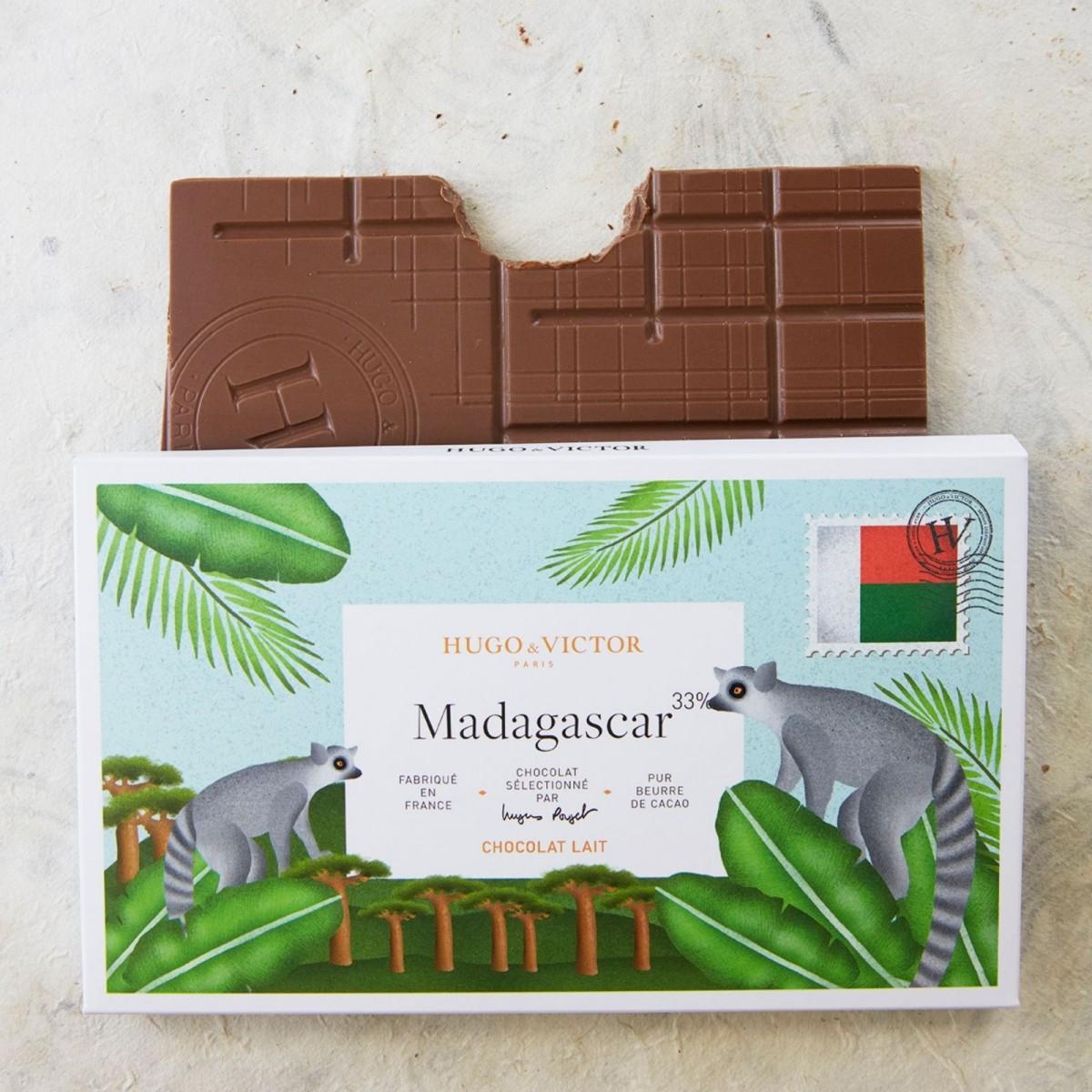 Tablette Madagascar 33% chocolat lait sans lécithine de soja