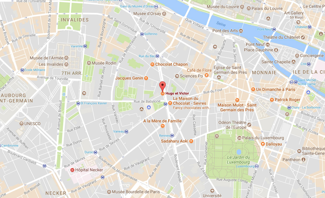 Map - Boutique Rive Gauche