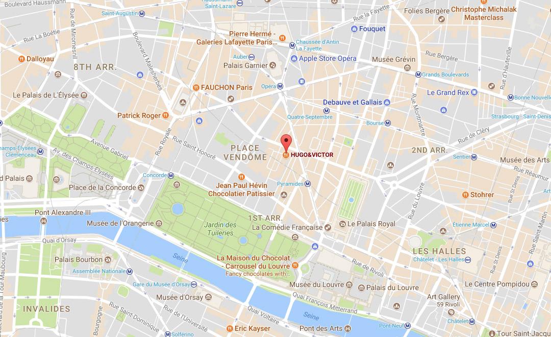 Map - Boutique Rive Droite