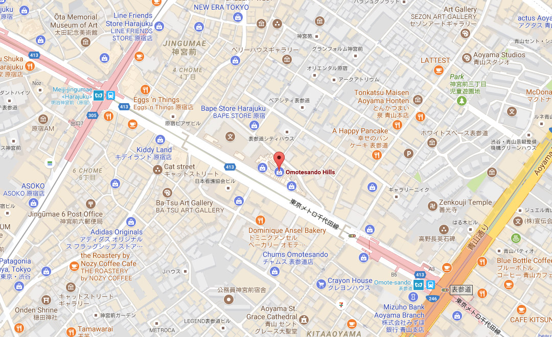 Map - Boutique et Salon de thé Omotesando Hills - Mall