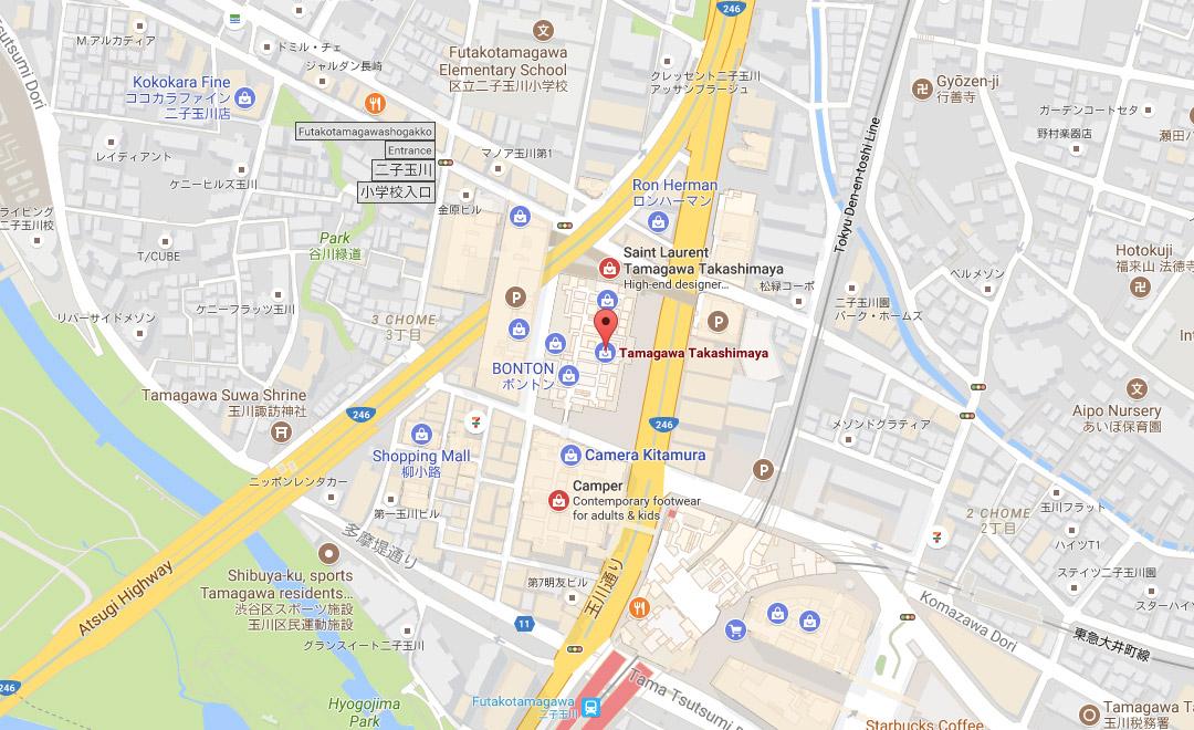 Map - Boutique et Salon de thé Tamagawa