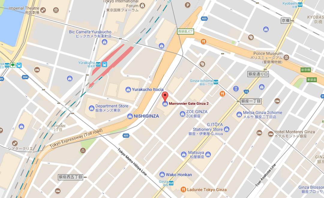 Map - Boutique et Salon de thé Ginza Maronie Gate 2
