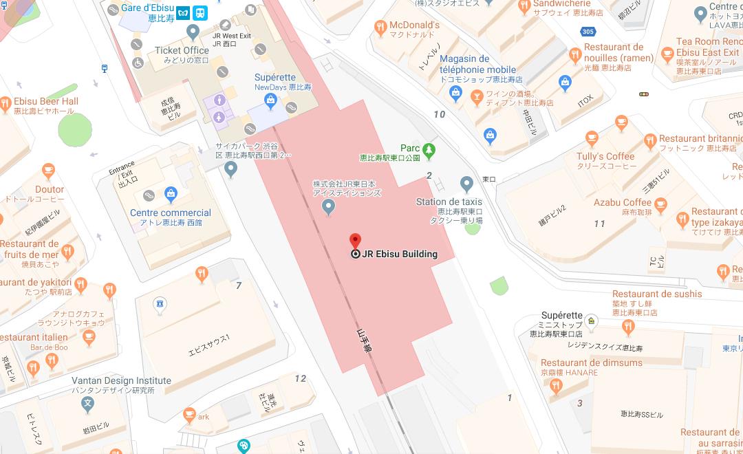 Map - Atré Ebisu